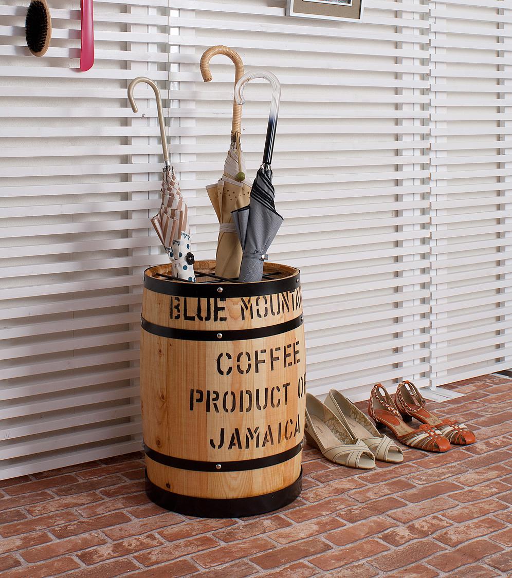 国産木樽型 傘立て ナチュラル 傘 収納 傘立 傘たて おしゃれ アンブレラ スタンド 玄関収納 たる タル 木樽 バレル 木製 ウッド(代引不可)【送料無料】
