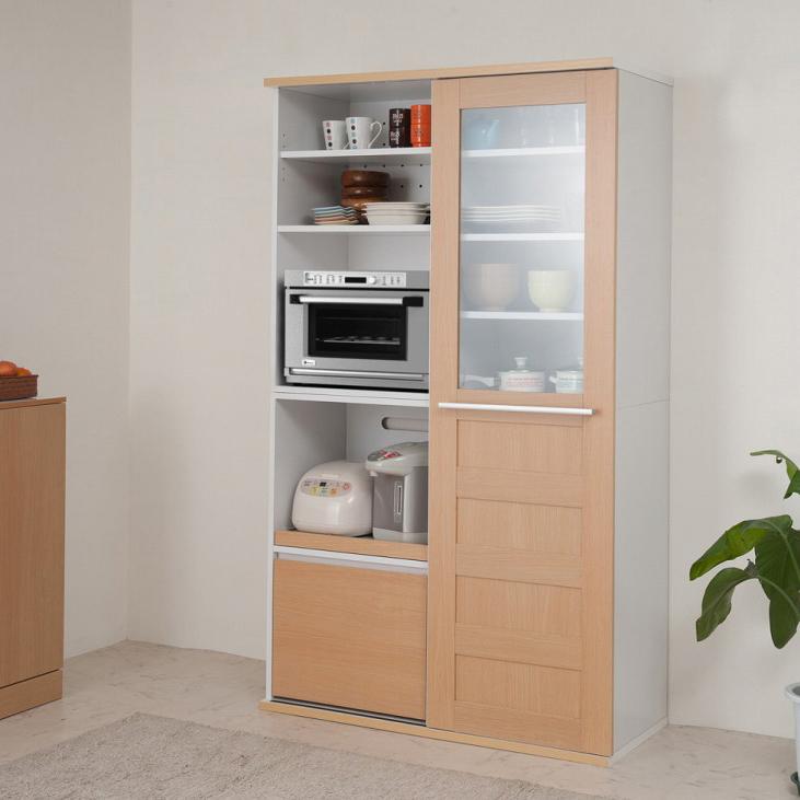 キッチンシリーズNeat 引き戸式レンジ幅105 ナチュラル(代引不可)【送料無料】【storage0901】