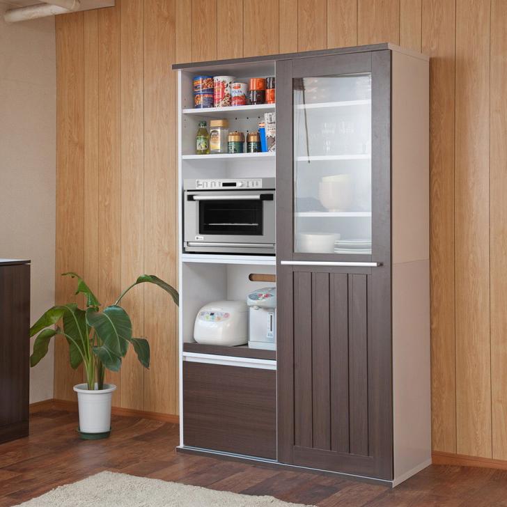 キッチンシリーズCaim 引き戸式レンジ幅105 ダークブラウン(代引不可)【送料無料】【storage0901】