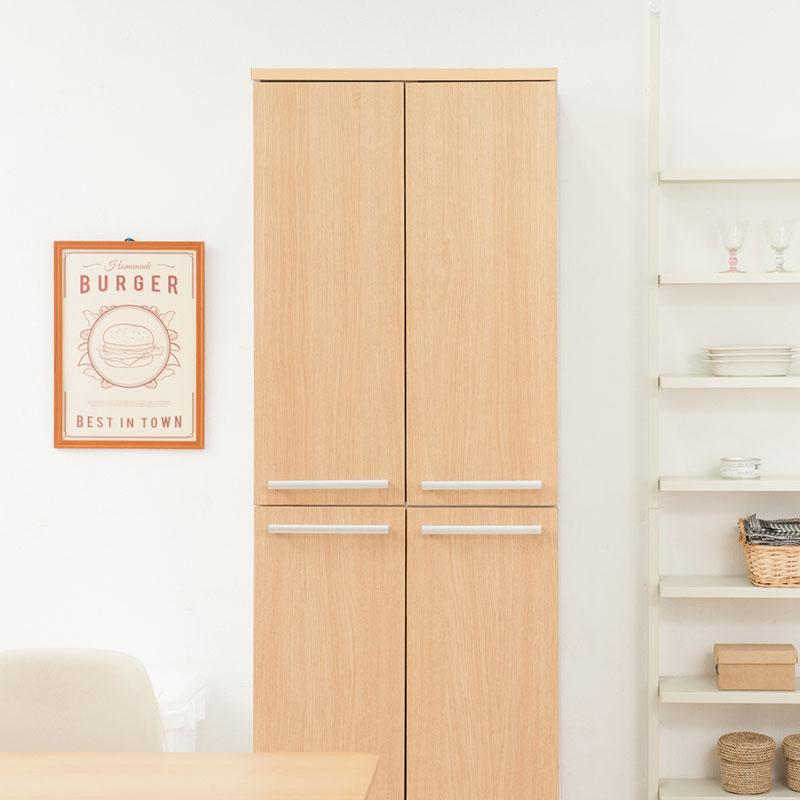 日本製 キッチン Neat 6段 大容量 キッチンストッカー 収納 キッチン ストッカー 収納家具 幅60 ナチュラル 国産(代引不可)【送料無料】
