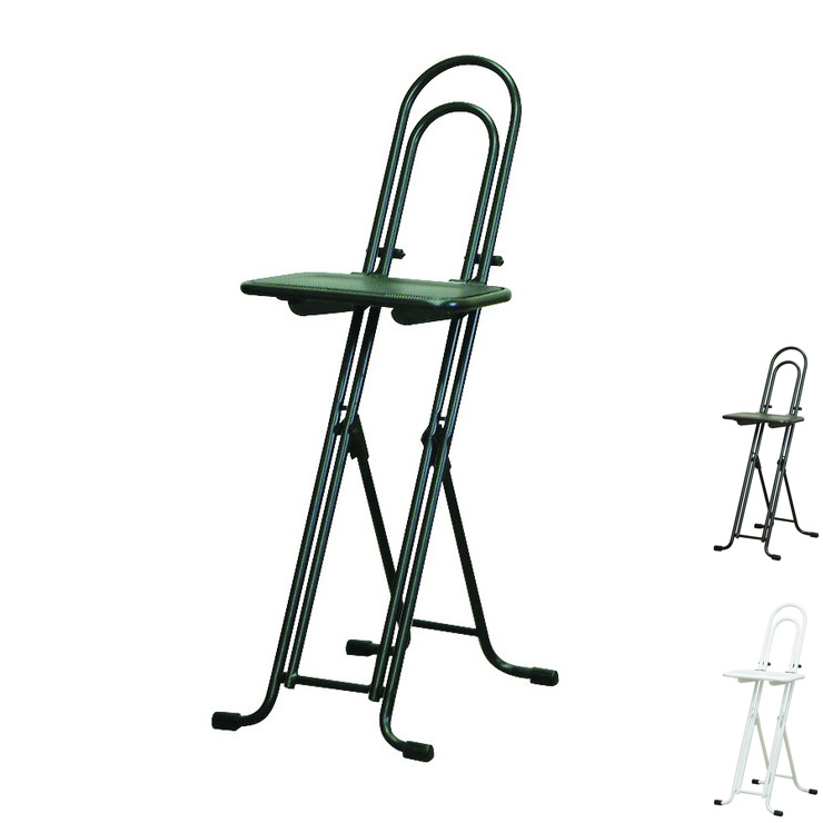 ベストワークチェア 高さ調整式 折りたたみチェア 日本製 パイプ椅子 補助椅子 ワーキングチェア(代引不可)【送料無料】
