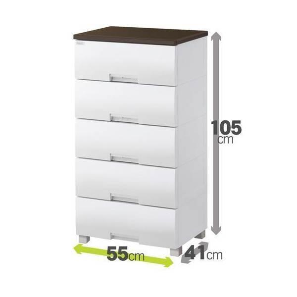 天馬 フィッツプラス F5505 オーク 5段 fits fitsプラス 収納(代引不可)【送料無料】【storage0901】