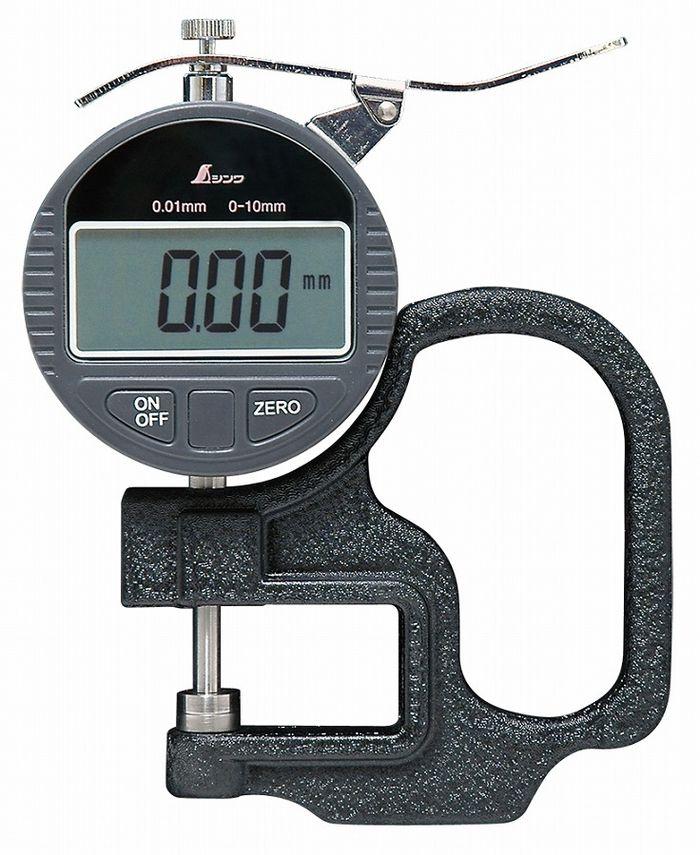シンワ測定 デジタルシックネスキャリパー A 0.01mm/10mm ハンドル付 73746【送料無料】