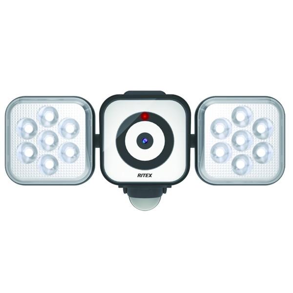 RITEX(ムサシ) LEDセンサライトX防犯カメラ 8W×2灯 C-AC8160【送料無料】