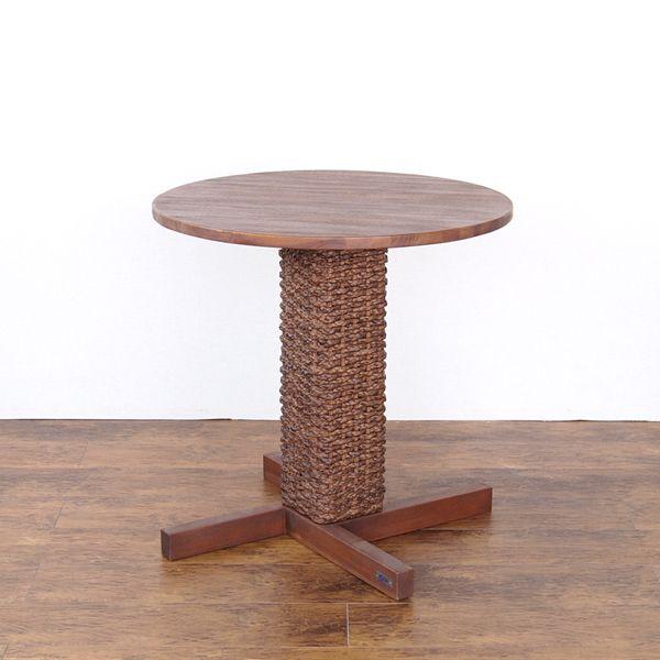 @CBi(アクビィ) カフェテーブル コーヒー 木製(代引不可)【送料無料】 サイド 机 インテリア 家具 チーク カフェテーブル 丸型 ACTS79DK