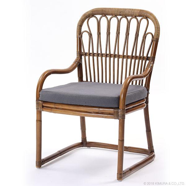 ラタン ダイニングチェア Breeze シリーズ C270GYM 家具 インテリア イス 椅子 ダイニングチェア アームチェア 籐 ラタン (代引不可)【送料無料】