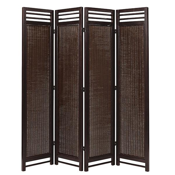 アジアン スクリーン 4連 AT(アンティークブラウン) 籐家具 パーテーション 間仕切り 目隠し 仕切り 衝立 ついたて 寝室 籐(代引不可)【送料無料】