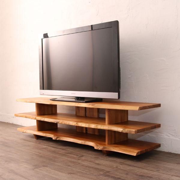 家具 インテリア TVボード テレビラック ローボード TVラック AVボード リビングボード CD DVD チーク 無垢材(代引不可)【送料無料】