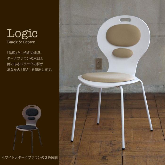 ロジック パッドチェアー ホワイト LOGIC PAD CHAIR WHITE 新生活 一人暮らし ダイニング パソコンデスク 疲れにくい(代引不可)【送料無料】