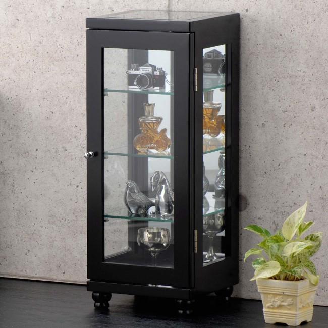 コレクションケース ディスプレイ ガラス コレクションケース スリム 収納家具 2color【送料無料】(代引き不可)