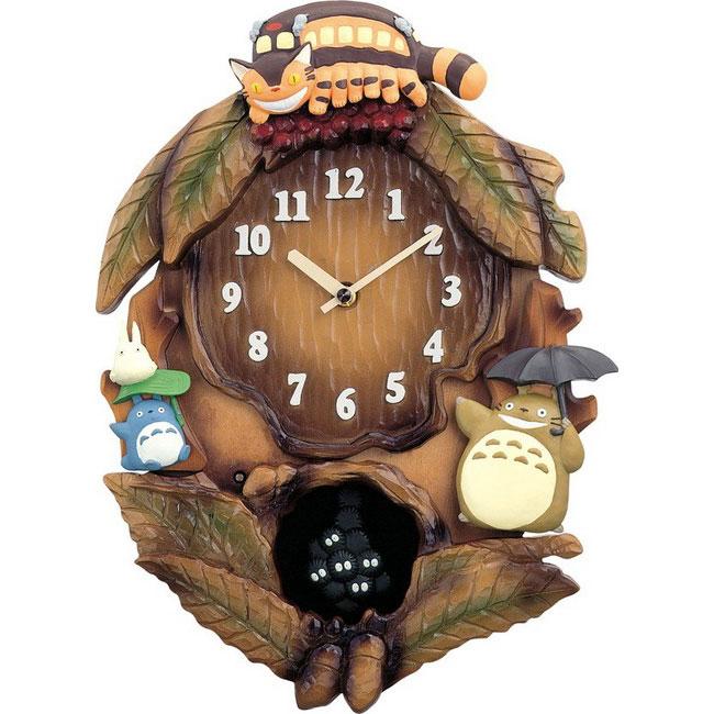 リズム時計製掛時計飾り振り子付き トトロ 4MJ837MN06【送料無料】(代引き不可)
