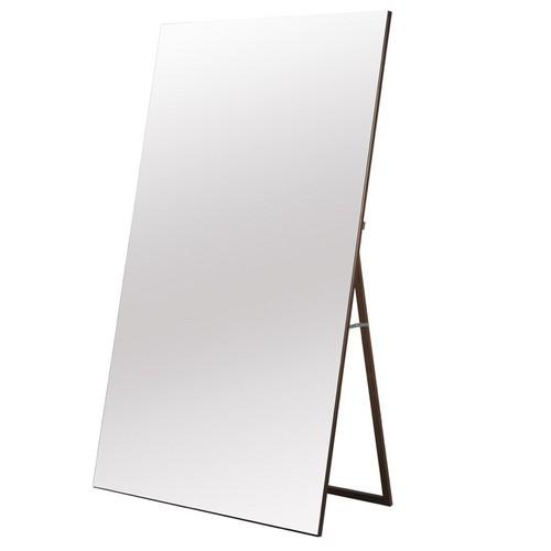【日本製】幅90フチなしワイドミラー 家具 鏡・ドレッサー スタンドミラー NK-9000(代引不可)【送料無料】