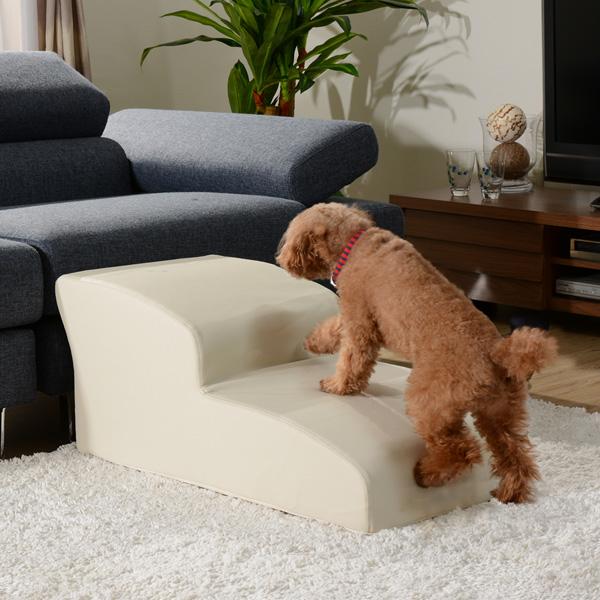 ドッグステップ 2段 奥行き80cm 段差 ペット用階段 スロープ 犬用 犬 ペット ステップ 日本製 階段 ステップ 介護用 小型犬(代引不可)【送料無料】