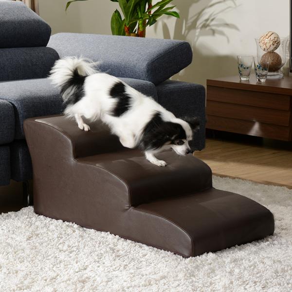 ドッグステップ 3段 奥行き80cm 段差 ペット用階段 スロープ 犬用 犬 ペット ステップ 日本製 階段 ステップ 介護用 小型犬(代引不可)【送料無料】