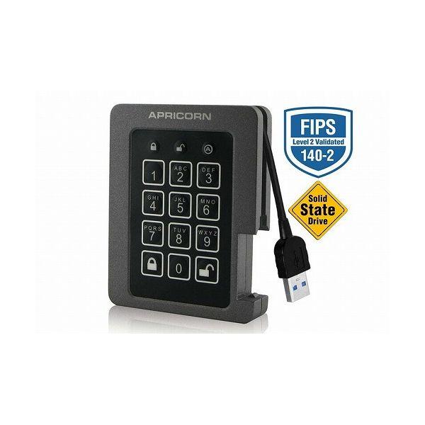 APRICORN Aegis Padlock SSD - USB 3.0 ASSD-3PL256-2TBF(代引不可)
