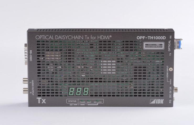 アイ・ディ・ケイ HDMI光ファイバケーブル送信器(マルチモードファイバー)デイジーチェーンモデル OPF-TH1000D-MM(代引不可)