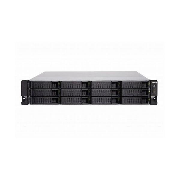 QNAP TVS-1272XU-RP-i3-4G 144TB搭載モデル 2Uラック型 NAS ニアラインHDD12TBx12 TVS-1272XU-RP 144TB()