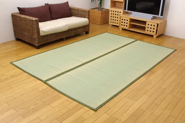 純国産 双目織 い草上敷 『すずらん』 団地間 6畳(約255×340cm)(代引き不可)