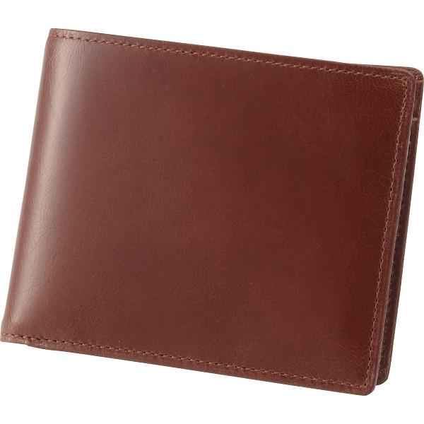日本製 ゴート二つ折り札入 ブラウン 装身具 財布 札入れ S-NOM15399BRN(代引不可)【送料無料】
