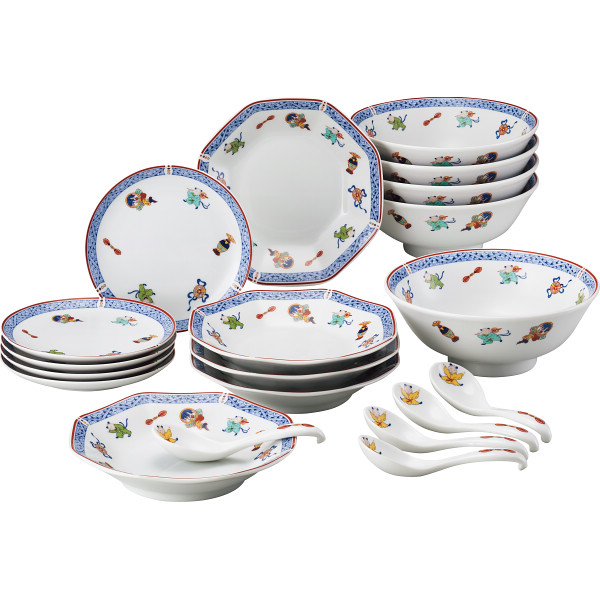 ナルミ 中華20ピースホームセット 洋陶器 洋陶皿 皿組合せセット 40186‐33411(代引不可)【送料無料】