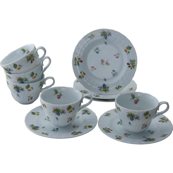 フルーツランド コーヒー5客セット 洋陶器 洋陶コーヒー コーヒー 碗皿セット T‐4440(代引不可)【送料無料】