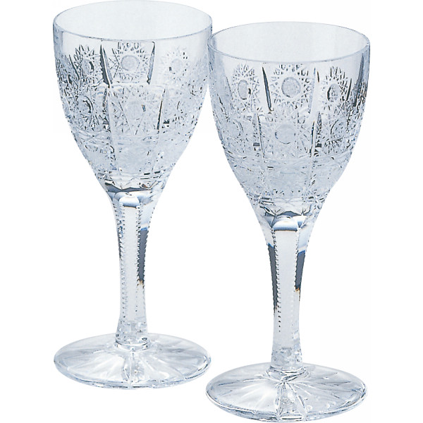 ラスカボヘミア ペアワイングラス 500pk ガラス製品 ガラスカップ ワイン2客 691/500/100/2(代引不可)【送料無料】