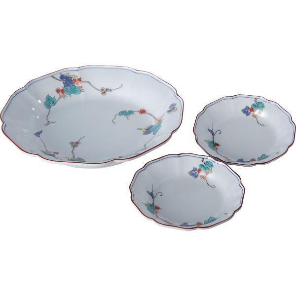 蔦ぶどう パーティセット 和陶器 和陶皿 大皿 小皿セット 02924(代引不可)【送料無料】
