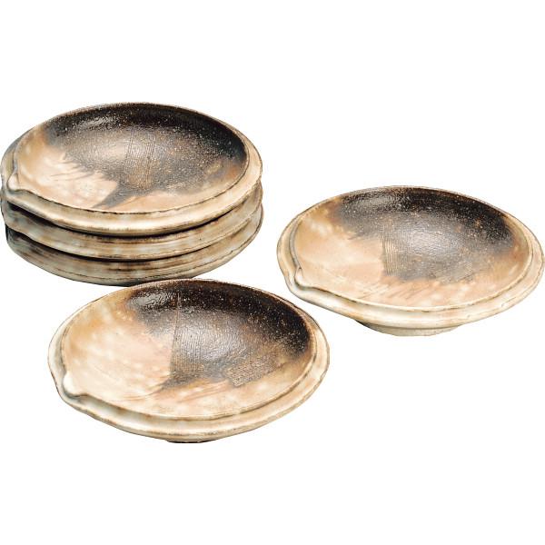 萩焼 三戸逸雄作 御本手 取皿5枚揃 和陶器 和陶皿 中皿セット 逸雄‐15(代引不可)【送料無料】