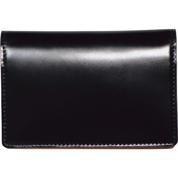 トワクレ コードバン 名刺入 ブラック コードバン 装身具 財布 名刺入れ 63TC31-10(代引不可)【送料無料】