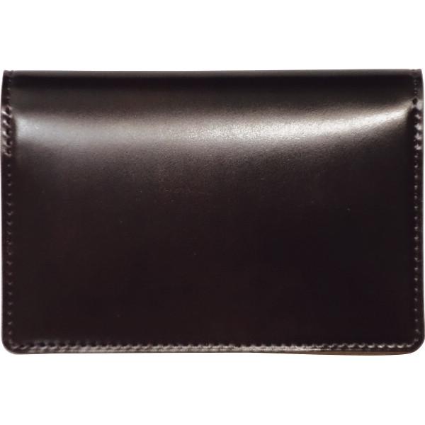 トワクレ コードバン 名刺入 チョコ コードバン 装身具 財布 名刺入れ 63TC31-21(代引不可)【送料無料】