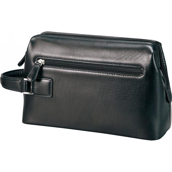 良品工房 日本製牛革ダレス型ポーチ ブラック カバン バッグカジュアル セカンドバック B7103-70B(代引不可)【送料無料】