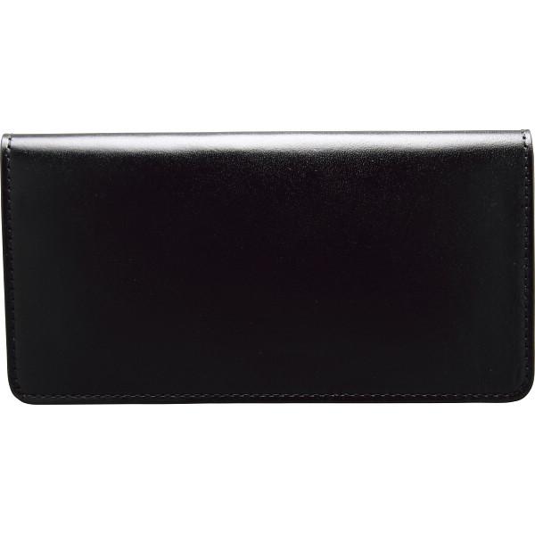 手塗りオイルレザー 切れ目仕立て 長財布 ブラック 装身具 財布 札束入れ TA44-01(代引不可)【送料無料】