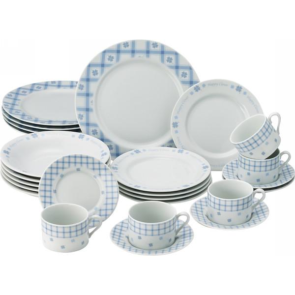 MR.BOSS ハッピークローバー 25ピースホームセット 洋陶器 洋陶皿 皿組合せセット 262(代引不可)【送料無料】