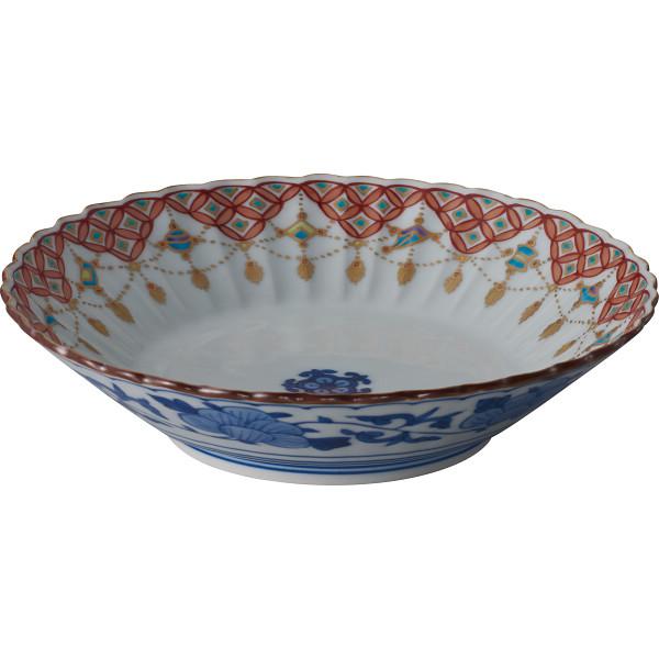 清水焼 色絵瓔珞紋 六寸鉢 和陶器 和陶鉢 BAR994(代引不可)【送料無料】