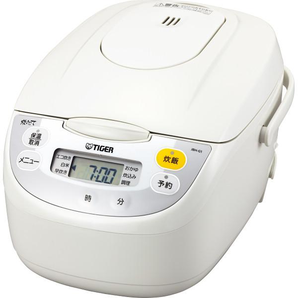 タイガー マイコン炊飯ジャー(5.5合) ホワイト 電化製品 電化製品調理機器 炊飯器 JBH-G101W(代引不可)【送料無料】
