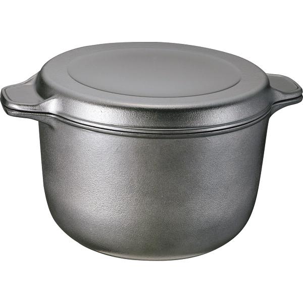 味わい鍋 特深鍋(22 cm ) ブラック 鍋ケトルフライパン アルミ鍋 両手鍋 AZT-22(代引不可)【送料無料】
