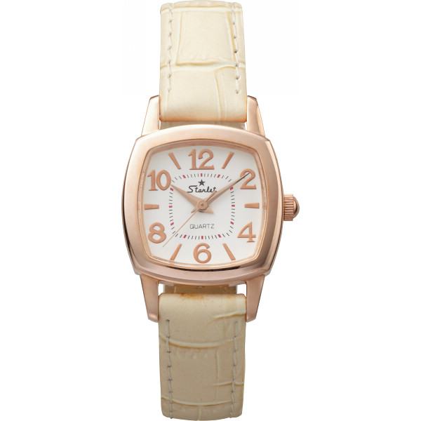 スターレット ドレスレディース腕時計 ピンクゴールド ドレスウォッチ 装身具 婦人装身品 婦人腕時計 ST-062LG-06-FC(代引不可)【送料無料】