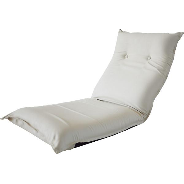 低反発リクライニングフロアチェア ベージュ 木製品 家具 ソファ 座椅子 肘なし座椅子 SS-5BE(代引不可)【送料無料】
