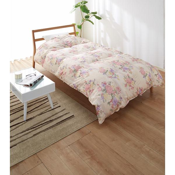 羽毛肌掛けふとん(増量タイプ) ピンク 寝装品 布団 ケット 肌布団 1342-54465(代引不可)【送料無料】