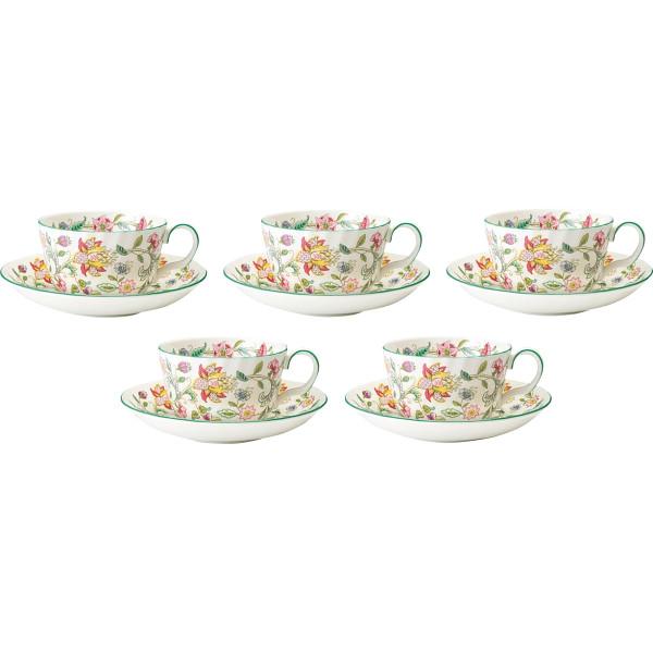 ミントン ハドンホール ティー碗皿5客セット ハドンホール 洋陶器 洋陶コーヒー コーヒー 碗皿セット HAD TCS5(代引不可)【送料無料】
