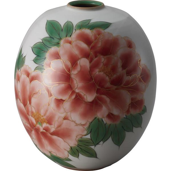 清水焼 白掛牡丹 花生 和陶器 トウア443(代引不可)【送料無料】