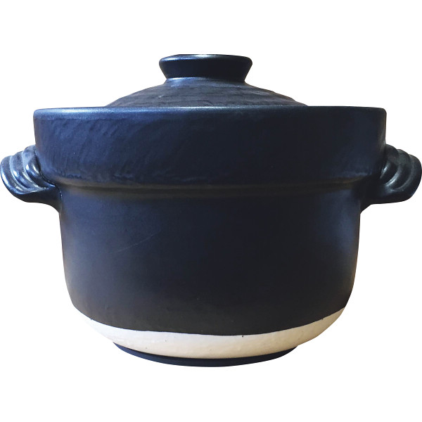 萬古焼 IHごはん鍋4合炊 和陶器 陶器鍋 土鍋単品 SD17‐7(代引不可)【送料無料】