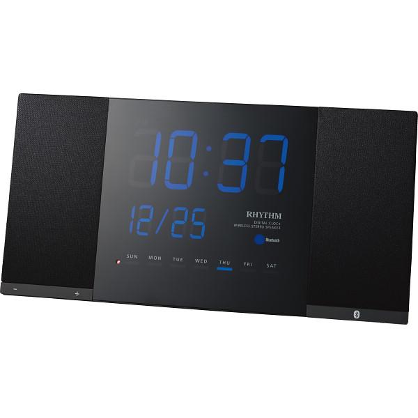 リズム Bluetooth対応掛時計 トキオト ブラック 室内装飾品 掛け時計 振り子無し角型時計 8RDA71RH02(代引不可)