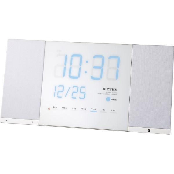 リズム Bluetooth対応掛時計 トキオト ホワイト 室内装飾品 置き時計 掛け置き兼用時計 8RDA71RH03(代引不可)