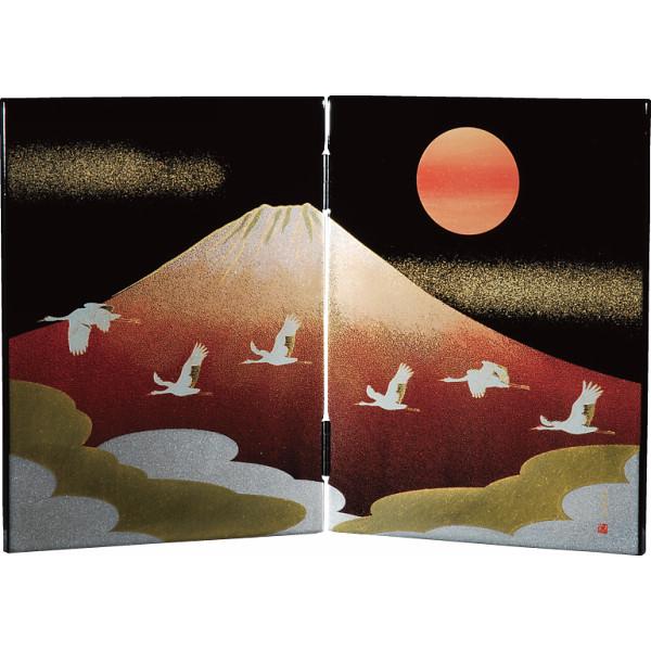 日本の歳時 木製ミニ屏風 6枚セット 漆器 漆器雑貨 0001088(代引不可)【送料無料】