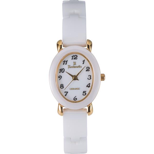 ロマネッティ ロマネッティ セラミック ブレスレット ホワイト セラミック 装身具 婦人装身品 婦人腕時計 RE-3528L-09(代引不可)【送料無料】