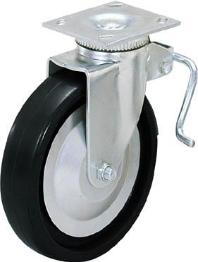 スガツネ工業 重量用キャスター径152自在ブレーキ付D(200-133-471【31-406B-PD】(キャスター・重荷重用キャスター)