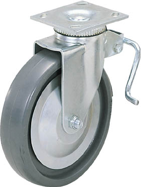 スガツネ工業 重量用キャスター径152自在ブレーキ付SE(200-133-383【31-406B-PSE】(キャスター・重荷重用キャスター)