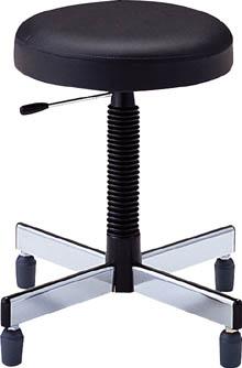 ノーリツ 作業用チェア ブラック【TL-6LR】(オフィス家具・作業用チェア)