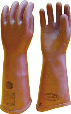 ワタベ 高圧ゴム手袋410mm大【510-L】(作業手袋・絶縁手袋)